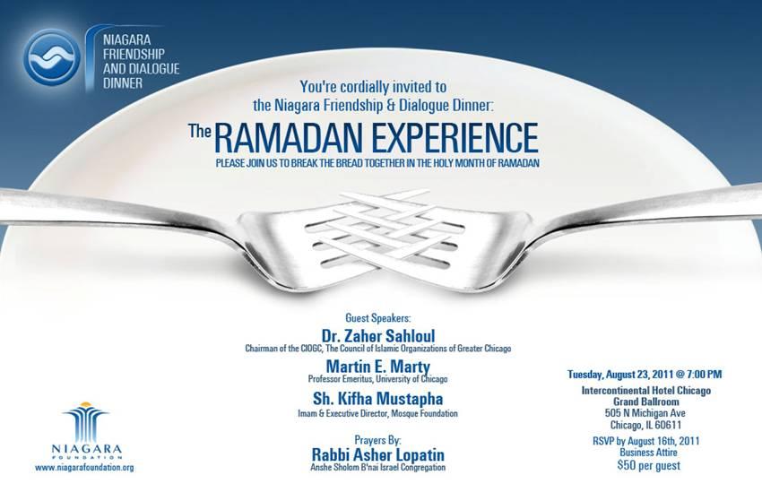 Niagara Friendship & Dialogue Dinner: The Ramadan Experience | Niagara Foundation