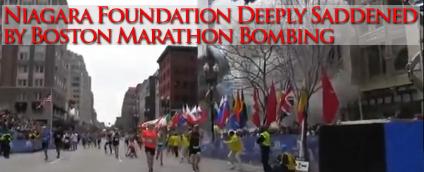 Niagara Foundation deeply saddened by Boston Marathon bombing