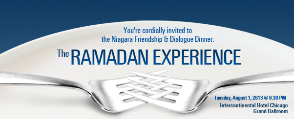 Niagara Friendship & Dialogue Dinner: The Ramadan Experience 2013